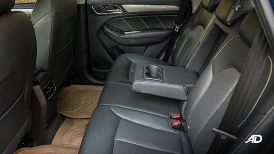 mg rx5 review road test rear cabin legroom interior philippines