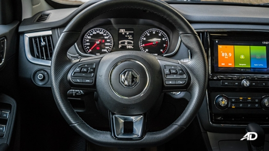 mg rx5 review road test steering wheel interior philippines