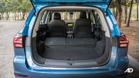 mg rx5 review road test trunk cargo seats folded interior philippines