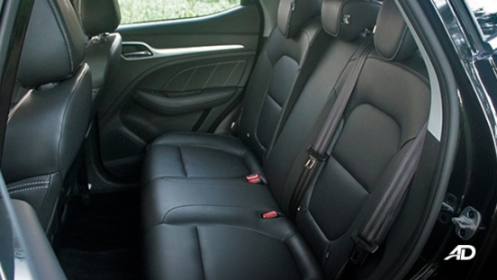 MG ZS road test review rear seats interior