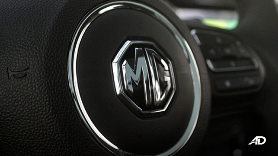 MG ZS road test review steering wheel badge interior
