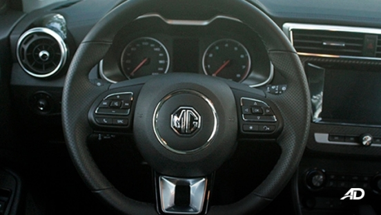 MG ZS road test review steering wheel interior philippines