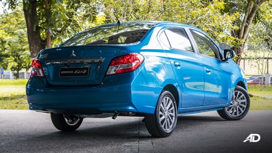 mitsubishi mirage g4 road test exterior rear quarter philippines