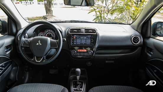 mitsubishi mirage g4 road test interior dashboard philippines