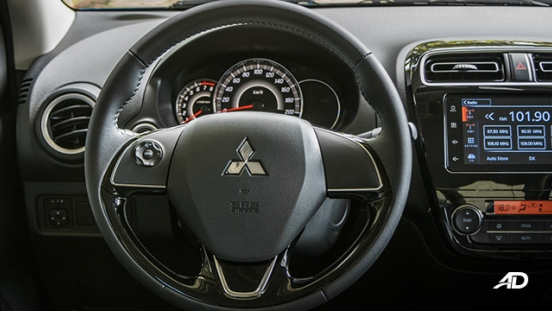 mitsubishi mirage g4 road test interior steering wheel