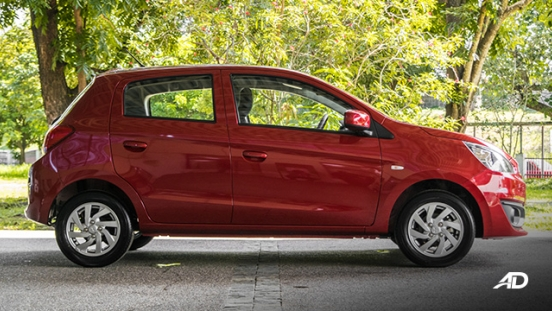 mitsubishi mirage road test side exterior philippines