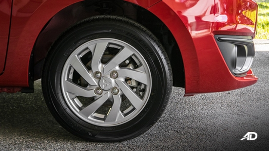 mitsubishi mirage road test wheels exterior