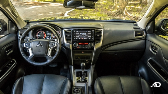 mitsubishi strada review road test dashboard interior philippines