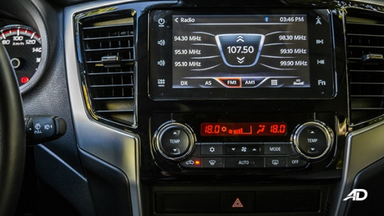 mitsubishi strada review road test touchscreen infotainment interior