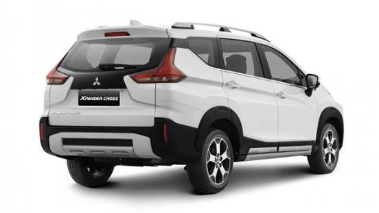mitsubishi xpander cross press photo rear quarter exterior