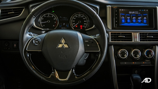 mitsubishi xpander road test steering wheel interior