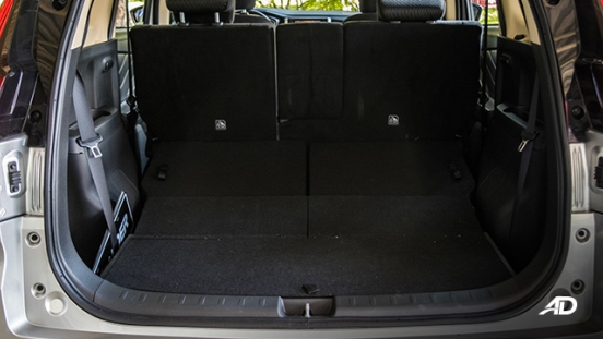 mitsubishi xpander road test trunk cargo