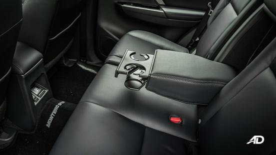 montero sport rear interior cabin cupholders