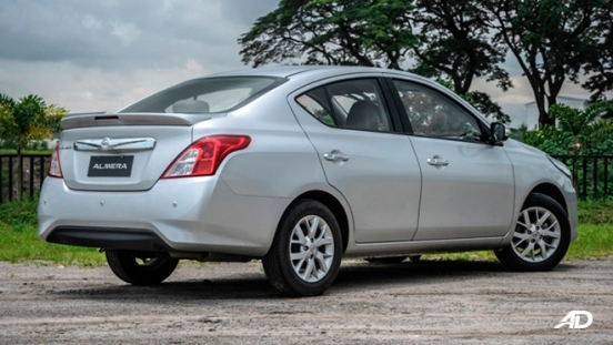 nissan almera road test review rear quarter exterior