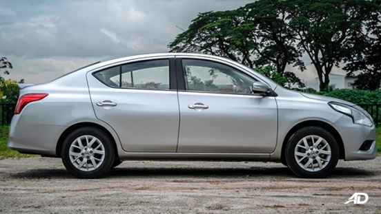 nissan almera road test review side view exterior