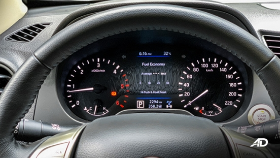 Nissan Navara road test interior instrument