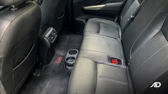 Nissan Navara road test interior rear cabin philippines