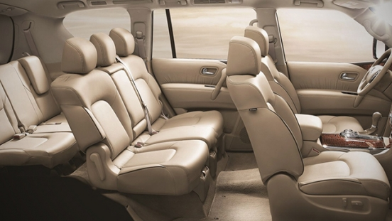 Nissan Patrol Royale 2018 cabin