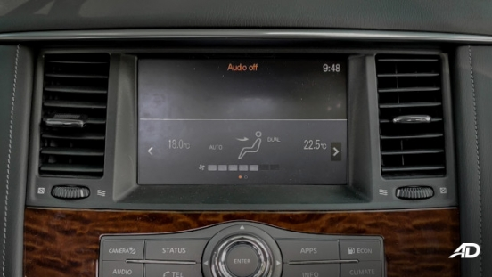 Nissan Patrol Royale Philippines interior infotainment system