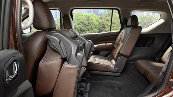 Nissan Terra folding seats