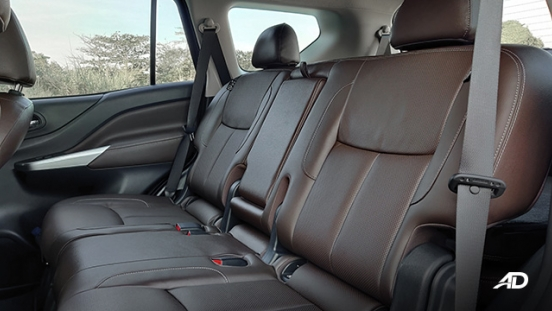 Nissan terra review road test third row interior