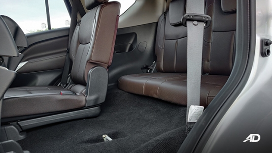 Nissan terra review road test third row legroom interior