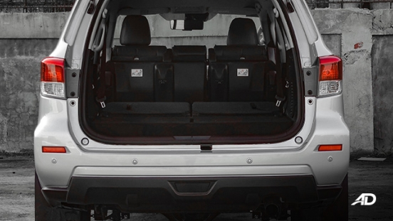 Nissan terra review road test trunk cargo all seats down interior
