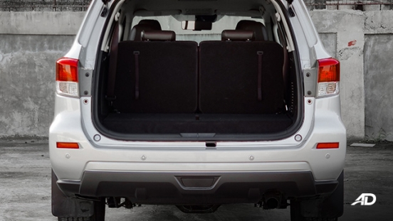 Nissan terra review road test trunk cargo seats up interior