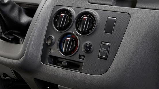 Nissan Urvan climate controls