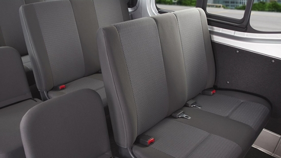 Nissan Urvan rear seats