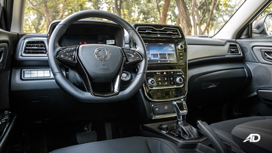 ssangyong tivoli diesel review road test front cabin interior philippines