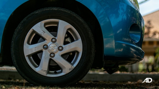 suzuki celerio road test exterior wheels