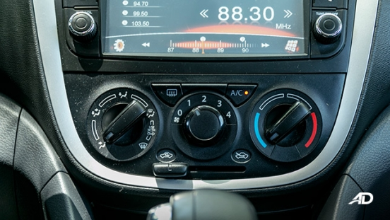 suzuki celerio road test interior climate control