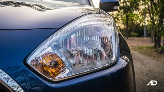 suzuki dzire review road test headlights exterior philippines