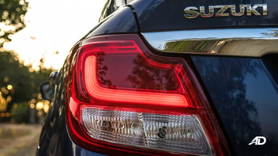 suzuki dzire review road test led taillights exterior