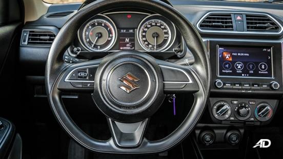 suzuki dzire review road test steering wheel interior