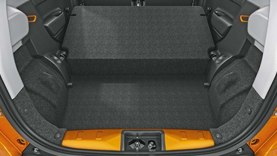 Suzuki S-presso Interior Cargo Area seats folded