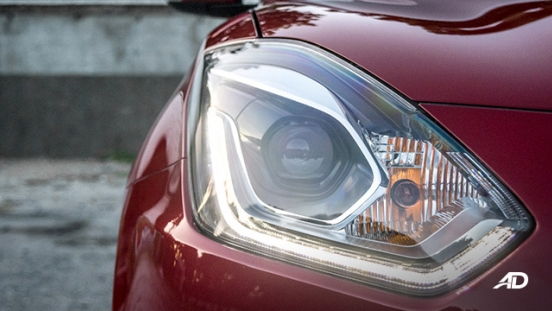 suzuki swift road test exterior headlights