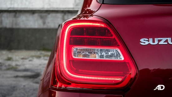 suzuki swift road test exterior taillights