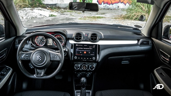 suzuki swift road test interior dashboard philippines