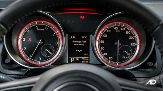 suzuki swift road test interior gauge clusters
