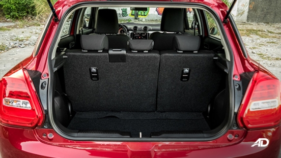 suzuki swift road test interior trunk