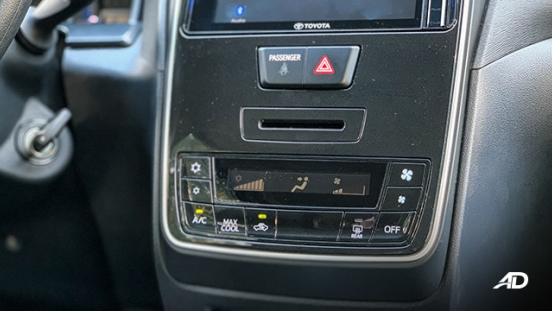 toyota avanza road test aircon interior