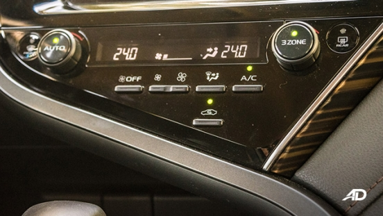 toyota camry review road test climate control interior philippines