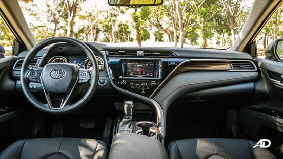 toyota camry review road test dashboard interior philippines