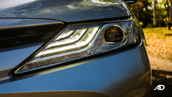 toyota camry review road test LED headlights exterior