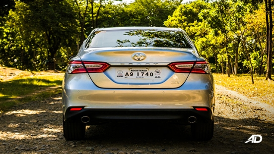 toyota camry review road test rear exterior philippines