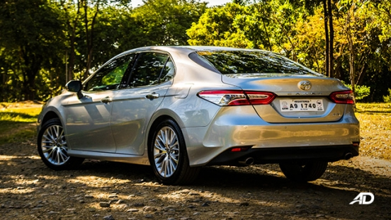 toyota camry review road test rear quarter exterior philippines