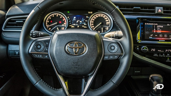 toyota camry review road test steering wheel interior