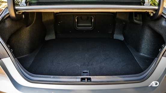 toyota camry review road test trunk cargo boot interior
